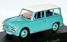 Awz P70 Estate 1955-59 Mint Green+White 1:43 Atlas