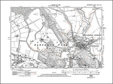 old map Oxfordshire 1923: 26NE repro Combe Woodstock Blenheim Palace