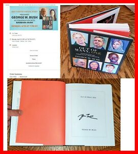 🔥 George W. Bush AUTOGRAPHED SIGNED Out of Many, One 1st First Edition Book 🔥