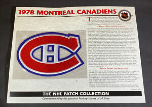 Willabee & Ward NHL Official Patch 1978 Montreal Canadiens