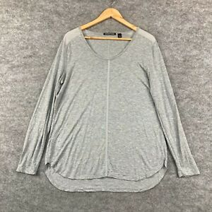 Country Road Womens Top Size XL Grey Long Sleeve Scoop Neck 323.17