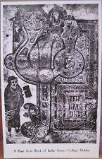 Irish RPPC PAGE FROM BOOK OF KELLS Dublin Ireland Trinity Library Man Y-J Photo