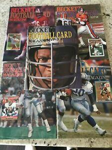 Beckett Football Magazines  # 1 - # 5 Bo Jackson, Joe Montana, John Elway + More