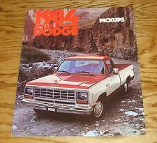 Original 1984 Dodge Ram Pickup Deluxe Sales Brochure 84 Truck D150 D350
