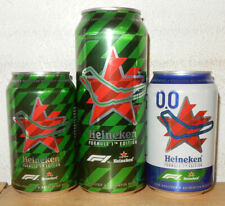 3 HEINEKEN FORMULA 1Tickets Beer cans from HOLLAND  (33cl and 50cl)