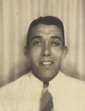 Vintage Photograph Photo Booth Handsome Man Poses 1940s Gay Interest