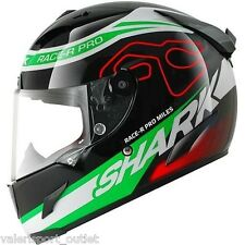 Casco Helmet SHARK RACE R PRO CARBON MILES BLACK RED GREEN Superbike MotoGP