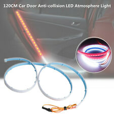 120CM Car Door Panel LED Atmosphere Light Strip Sequential Flow Lamp Red + White