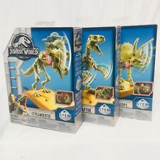 Lot of 3 Jurassic World Fallen Kingdom Fossil Dinosaur Striker Skeleton Figures