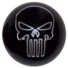 Black Silver Punisher Skull Shift Knob 3/8-16 thread U.S. Made