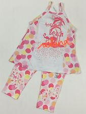 Naartjie NWT 9 Years Neon Beach Ball Flamingo Tunic Tank Top Ruffle Capri Outfit