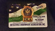 """1 COLLECTIBLE NEW ""AUTHENTIC "" 2018 NYPD DEA PBA CARD "" NOT SBA  CEA  LBA CARD"