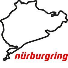 2 x Pegatinas circuito nurburgring nordschleife vinilo sticker adhesivo calcas