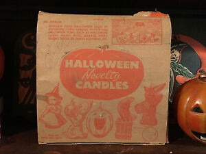 Vtg Original 1950s Gurley Halloween Candle Store Display Counter Box * Empty