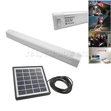 Portable USB Charge Outdoor Camping LED Tube Lamp bar Light + Solar Panel White