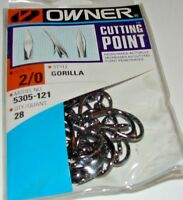 Owner Gorilla Cutting Point Live Bait 5305-121 28 Hooks per pack Size 2/0