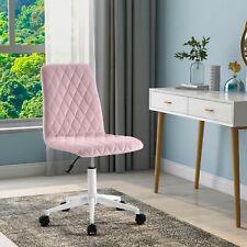 Bürostuhl Samt Schreibtischstuhl Höhenverstellbar Arbeitsstuhl Drehstuhl Rosa