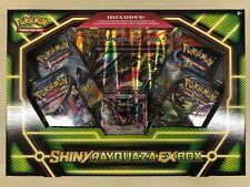 Pokemon TCG BOX Shiny Rayquaza EX Sealed OVP Englisch 4 Booster Oversized Card