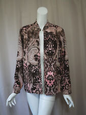 Chico's Print Cardigan Jacket Top size 2 Excellent