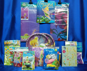 Tinkerbell Party Set # 19 Napkins Invites Tablecloth Plates Loot Bags Favors