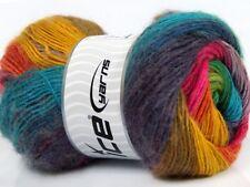 100g Mohair/Lacegarn in Regenbogenfarben