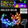 6.5M 21ft 30LED Solar Outdoor String Lights Patio Yard Garden Wedding Xmas Party