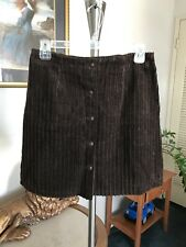 Vintage Tracy Evans Women's Corduroy Brown Skirt Size Small