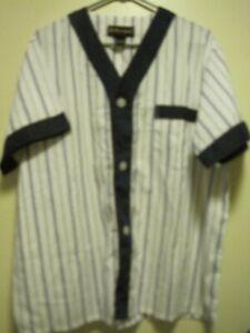 VTG Barrington Men SZ XL Pajama Set Cotton Blend BLUE STRIPED W/BLUE BAND/SH SLE