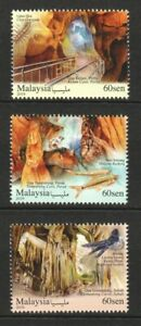 MALAYSIA 2019 CAVES IN MALAYSIA COMP. SET OF 3 STAMPS MINT MNH UNUSED CONDITION