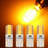 4* T10 194 168 W5W COB LED Car Canbus Silica Width Light Bulb Amber Yellow Lamps