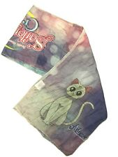 Sailor Moon Crystal Character Luna And Artemis Print Scarf