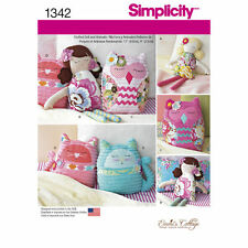 "Simplicity SEWING PATTERN 1342 Stuffed Toy 17""/43cm Dolls & 9""/23cm Animals"