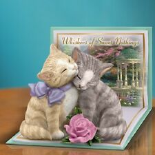 Whiskers of Sweet Nothing Pair of Cats Cat Thomas Kinkade Figurine
