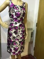 L.K BENNETT FLORAL DRESS SIZE UK 10 US 6 PINK BLACK GREY
