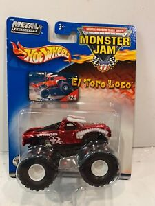 Monster Jam 2003 El Toro Loco Spectraflame Red Metal Collection #24 New Sealed