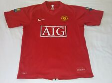 2007 MANCHESTER UNITED HOME NIKE M #10 ROONEY UEFA CHAMPIONS JERSEY
