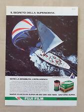 E192 - Advertising Pubblicità - 1987 - FUJI FILM SPONSOR UFF AMERICA'S CUP 1987