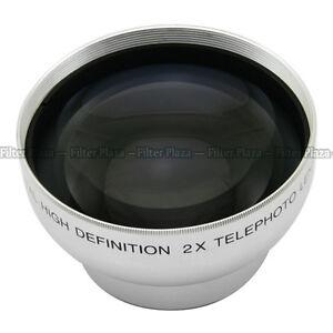 43mm 2.0X Magnification Telephoto Tele Converter Lens for Digital Camera 2X 43