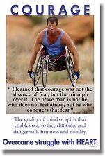 NEW Motivational Classroom POSTER - Courage - Nelson Mandela