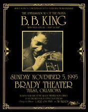 B.B. KING 1995 Original Tulsa OK Concert Poster Signed