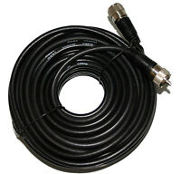 50 Ft. RG-8X Mini 8 Coax PL-259 Male to Male Amateur or Ham Radio Cable