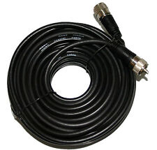 50 Ft. RG-8X Mini 8 Coax PL-259 Male to Male Amateur or Ham Radio Antenna Cable
