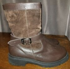 PROPET KALINDA Brown Leather & Suede Mid Calf Boots Sz 8.5 X (2E) Wide S# WB104