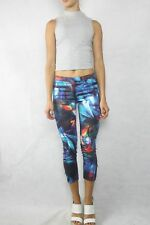 BARDOT Marble Colour Print Cropped Pants Size 8