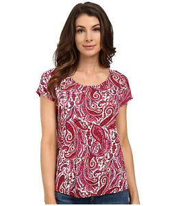 Lucky Brand Women's Printed Paisely Top size Small