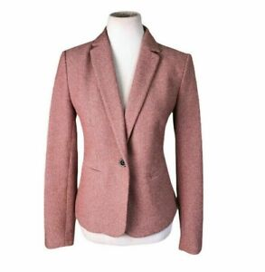 ANN TAYLOR Women Career Pink Single Breasted Blazer Size 6