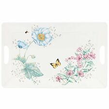 Lenox Butterfly Meadow Melamine Serving Tray, Large, White, No Tax, Free Ship