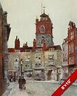 ST GILES CRIPPLEGATE LONDON OLD ENGLAND BRITISH ART CANVAS PAINTING PRINT