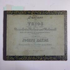 Antico volume di pianoforte Duets, Inc Beethoven SESTETTO & Hayden Trio