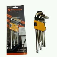 9 Piezas Extra Grande métricas Bola finalizado Hex Allen Key Llave Set De 1.5 mm - 10mm 24-8